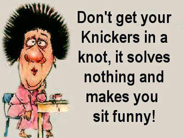 Are Your Spiritual Knickers in a Knot?